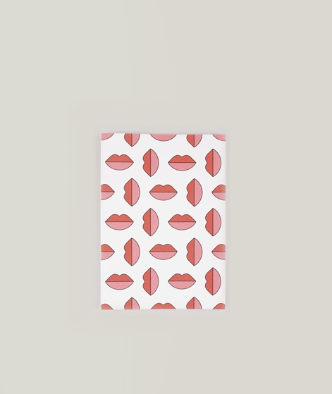 RED FRIES Lipstick Jungle Klappkarte