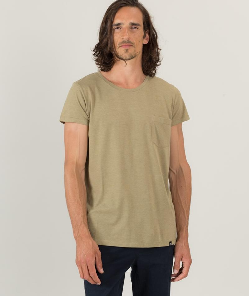 CHEAP MONDAY Cap Pocket T-Shirt oliv