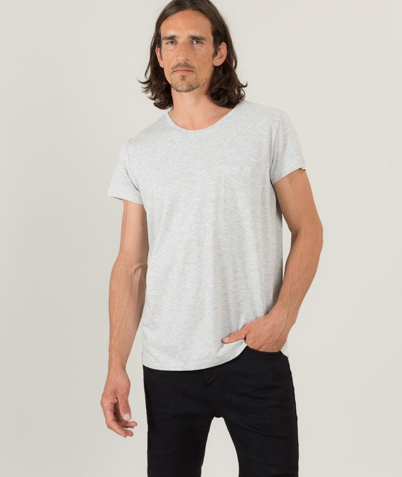 CHEAP MONDAY Cap Pocket T-Shirt warm mel