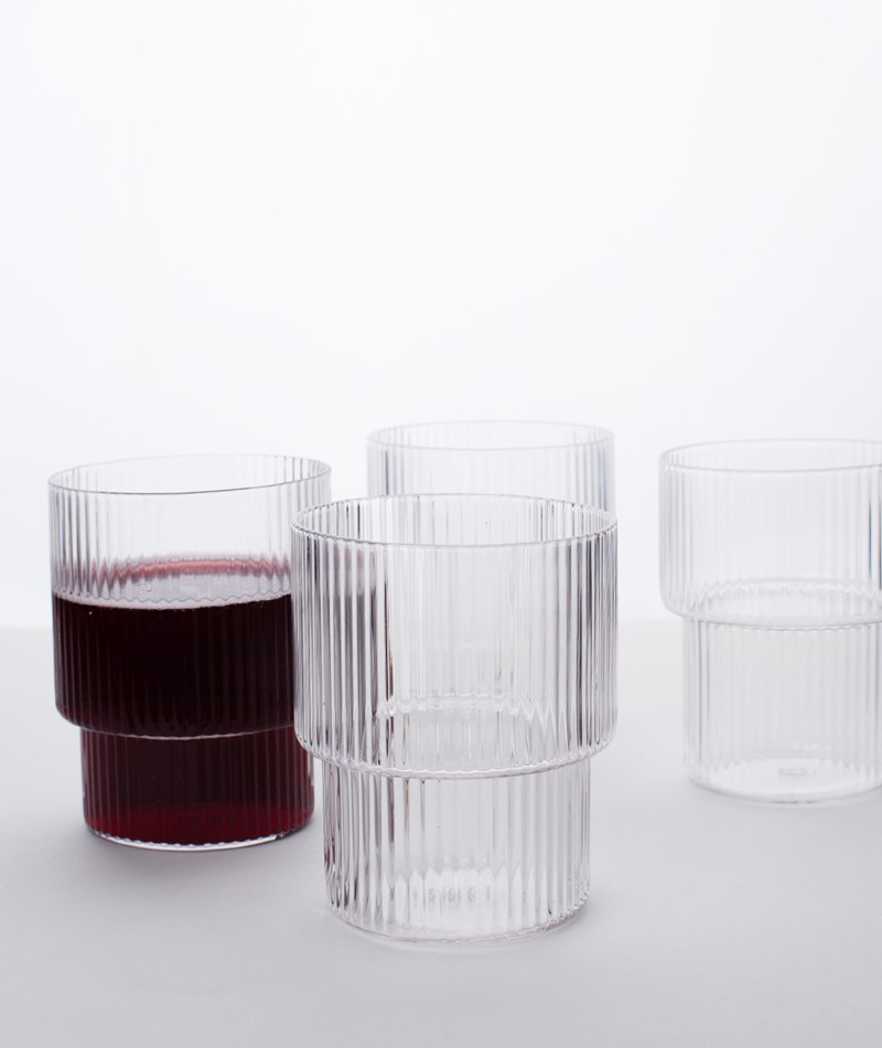 FERM LIVING Ripple Glas Set medium