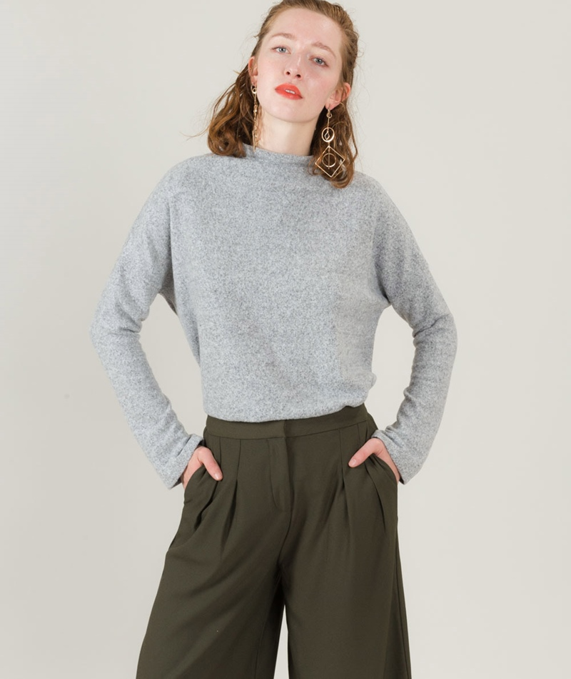 JUST FEMALE Lucien Pullover grey melange