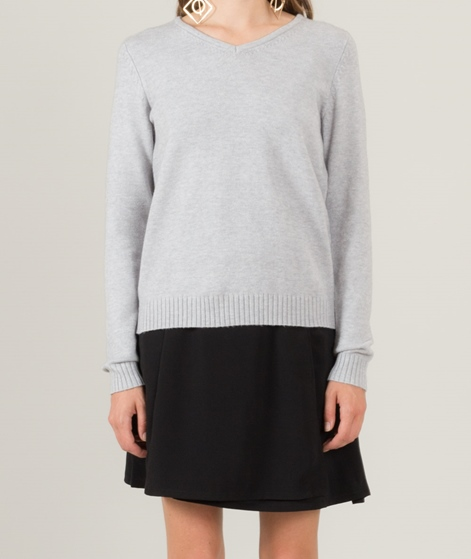 VILA Viril V-Neck Pullover light grey