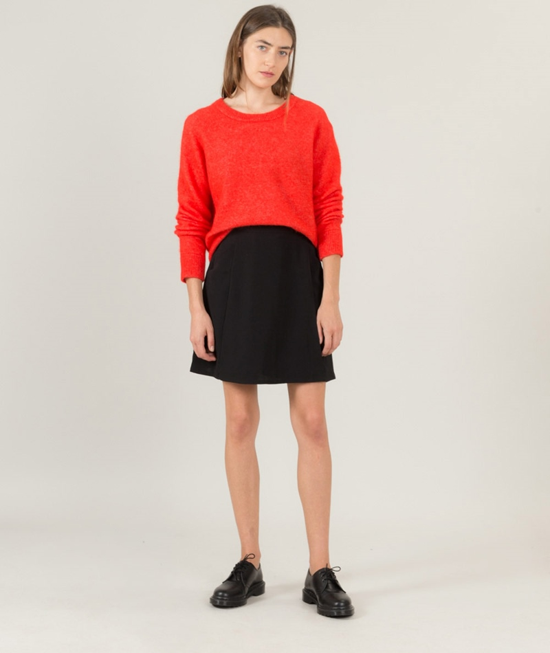 SAMSOE SAMSOE Nor O-N short Pullover chili
