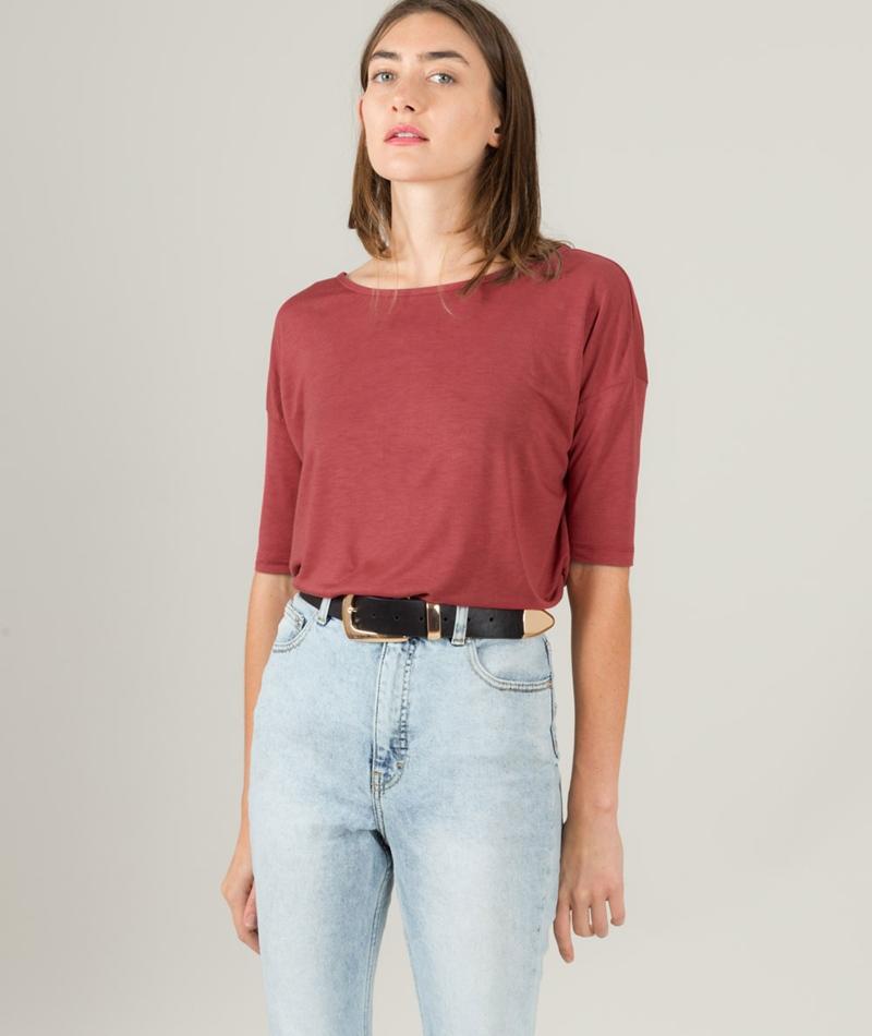 KAUF DICH GLUCKLICH Ela T-Shirt marsala