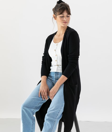 VILA VIRil Long Cardigan black
