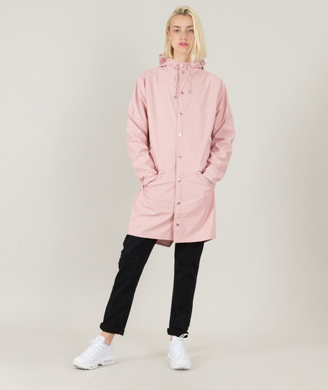 RAINS Long Regenjacke rose