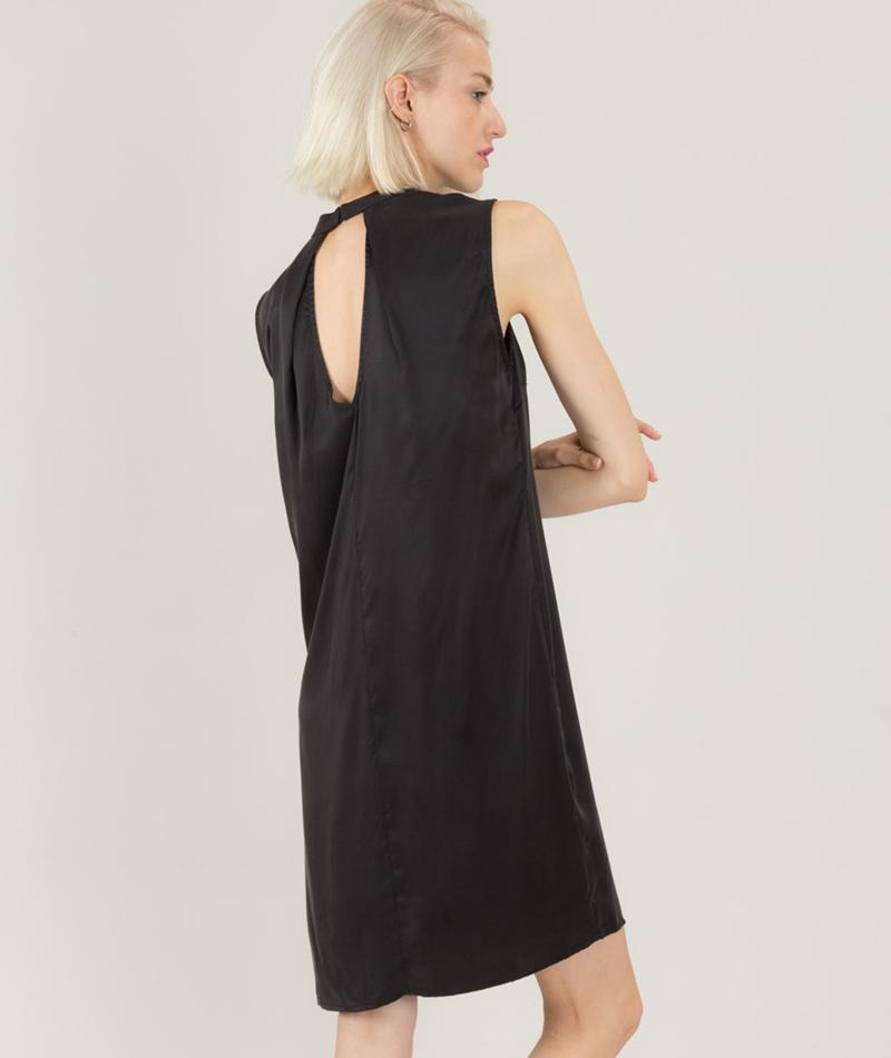 POP COPENHAGEN Sand Wash Silk Kleid bla