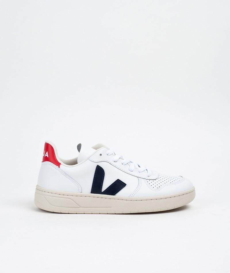 VEJA V-10 Sneaker white nautico pekin pi
