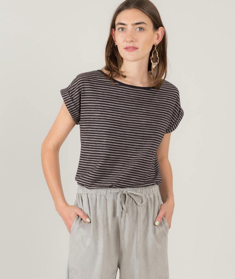 WEMOTO Holly T-Shirt black-white