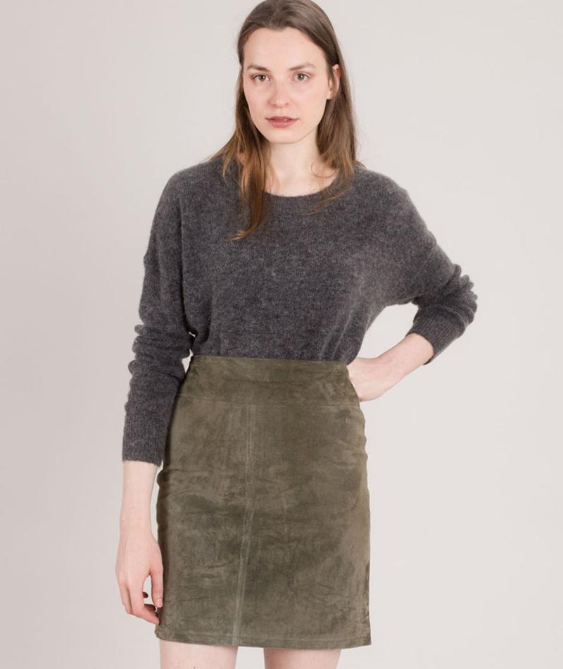 MOSS CPH Femme Mohair Pullover dark grey