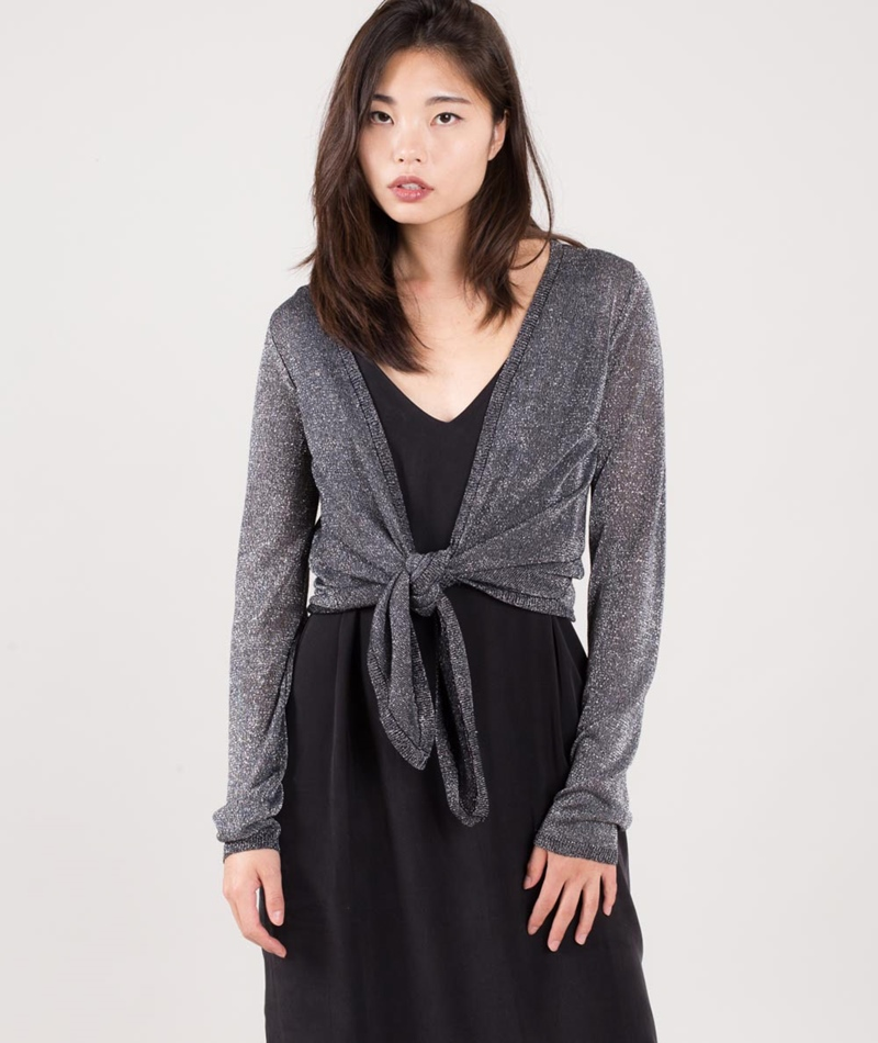 VILA Viinch Tie Cardigan black