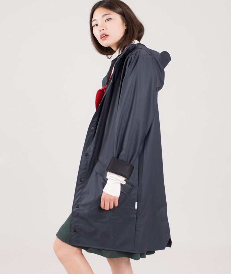 RAINS Long Jacket blue/black