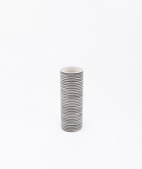LIV Vase Streifen klein schwarz/weiß