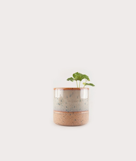 MADAM STOLTZ Two Tone Flower Pot olive