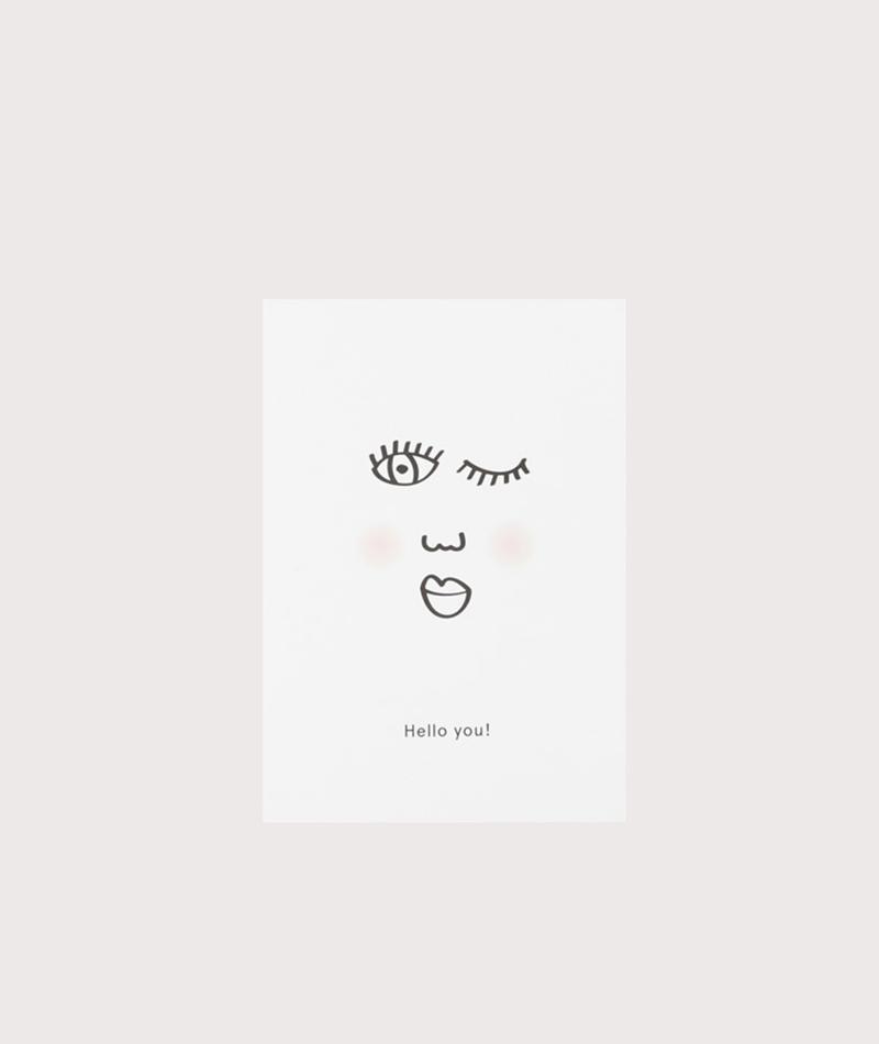 KAUF DICH GLÜCKLICH Postkarte Hello You!