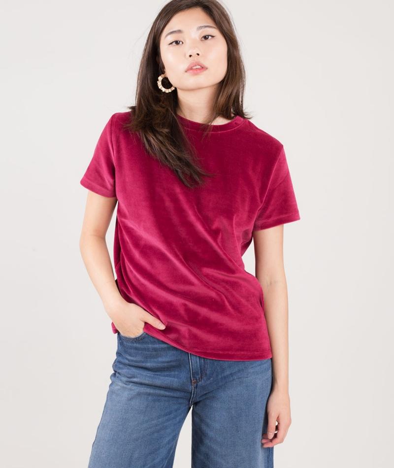 KAUF DICH GLUCKLICH Nea T-Shirt bordeaux