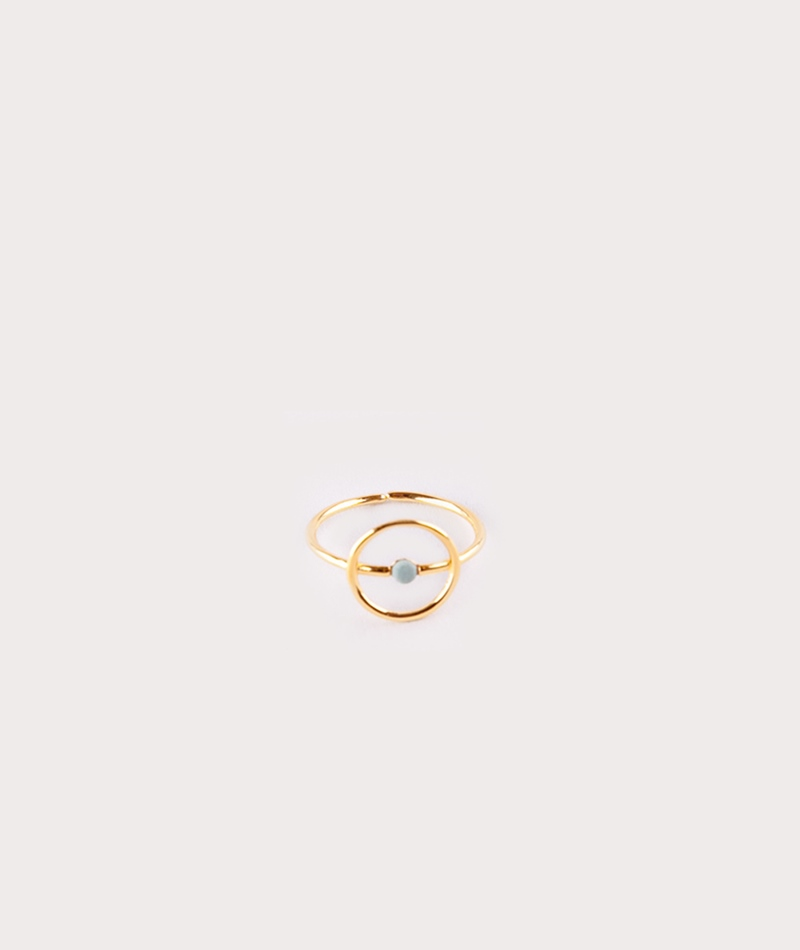 LOUISE KRAGH Microdot Ring gold