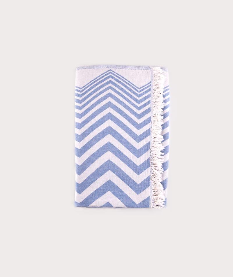 KAUF DICH GLUCKLICH ZigZag Towel blue