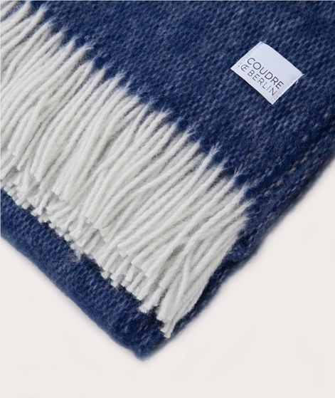COUDRE BERLIN Wool Blanket bluestone