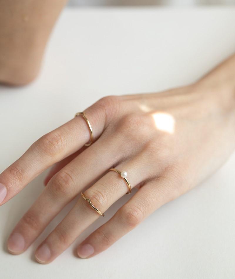 KAUF DICH GLÜCKLICH Geformter Ring gold