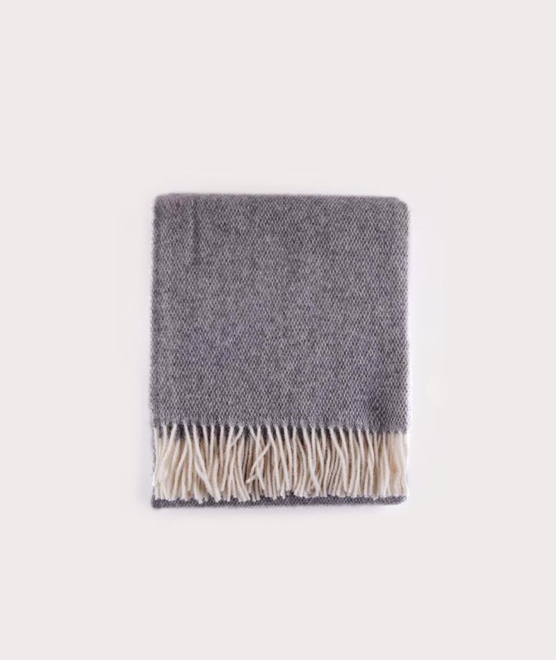 COUDRE BERLIN Wool Blanket granite grey