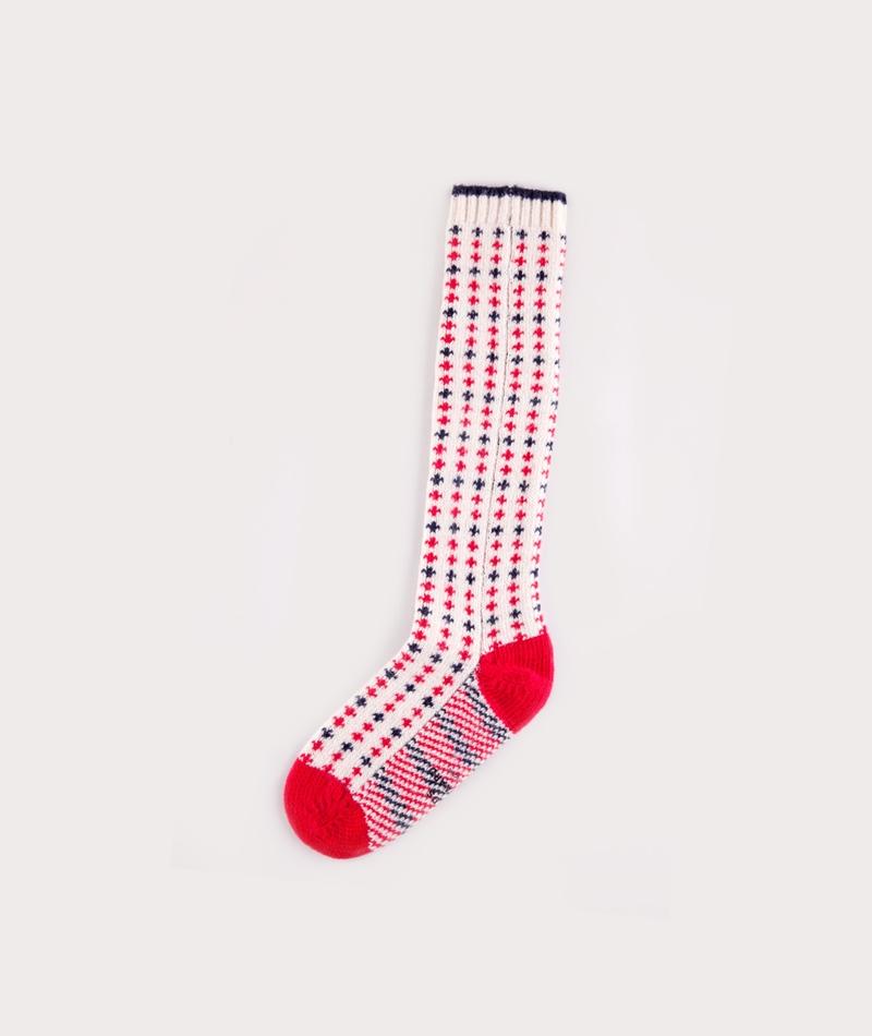 MADS NORGAARD Asock Socken cru red navy