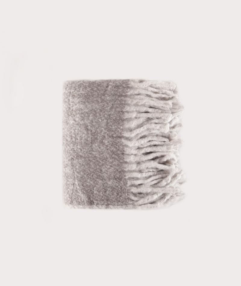 UNMADE CPH Melange Furry Schal braun