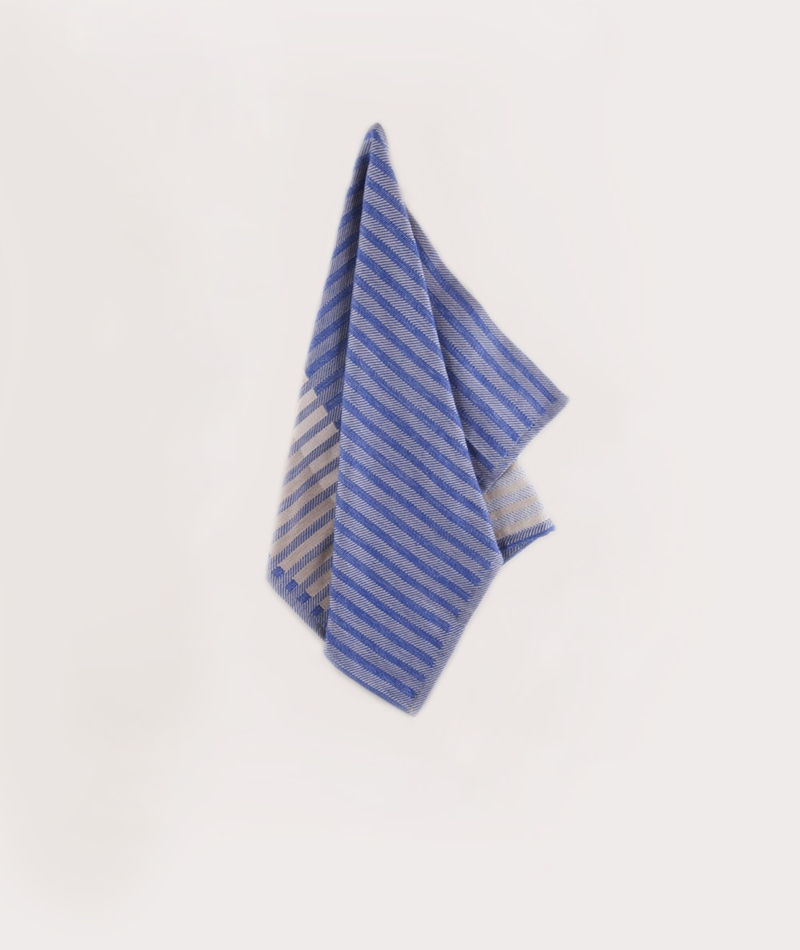 FERM LIVING Jacquard Tea Towel blue