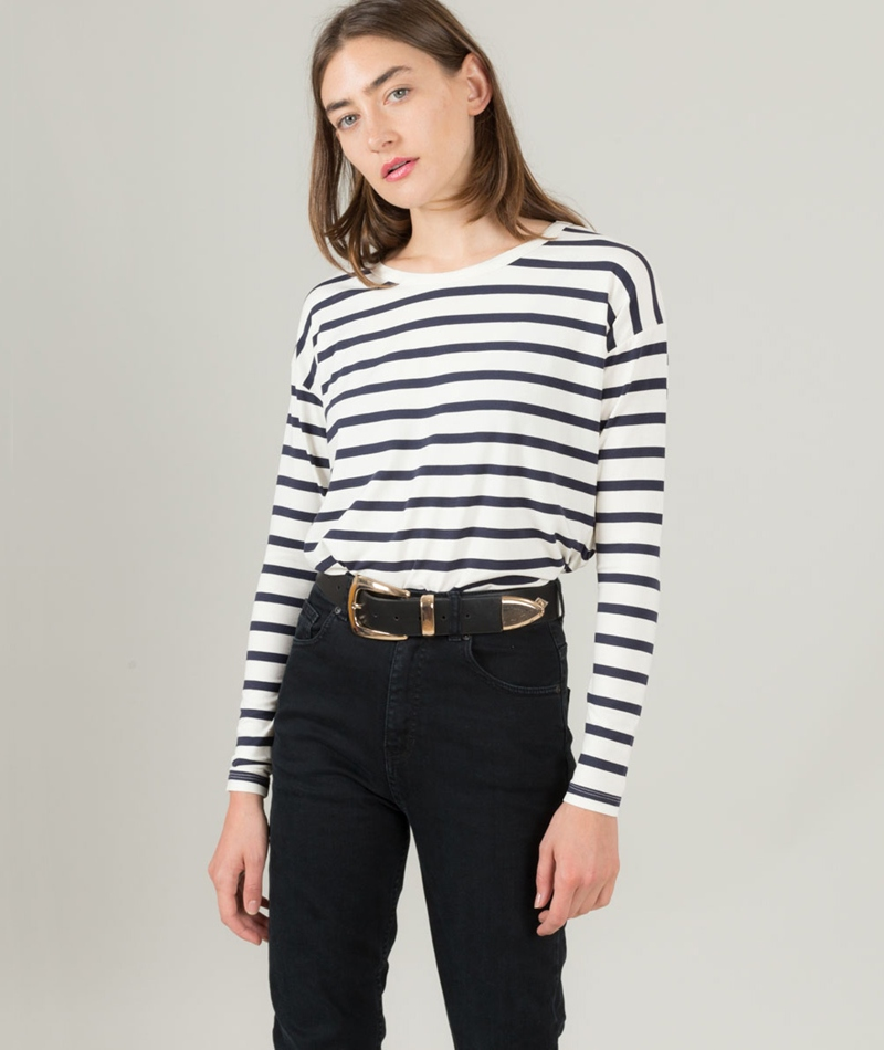 M BY M Nettie Gogreen Stripe Longsleeve