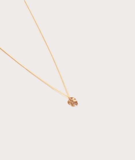 TOO DREAMY Mini Monstera Kette gold