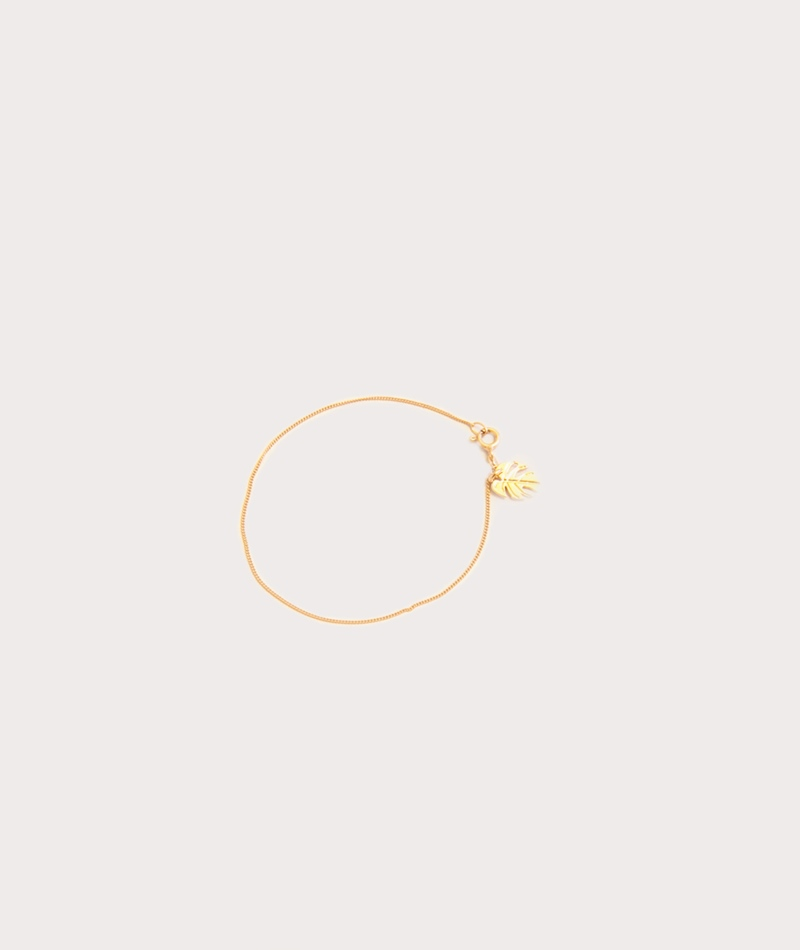 TOO DREAMY Mini Monstera Armband gold