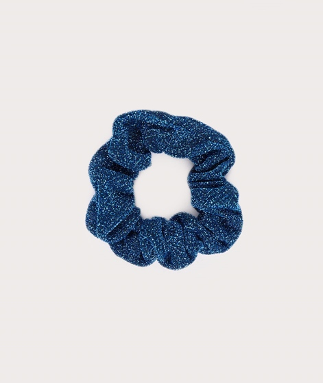 EBBA Small Lurex Scrunchie blue