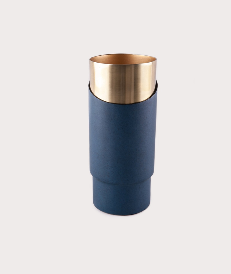 BLOOMINGVILLE Grafische Vase gold navy