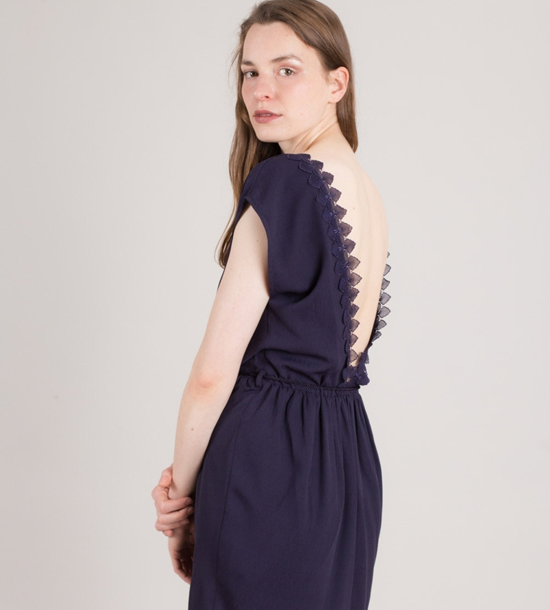 SESSUN Jeanne Lee Kleid indigo