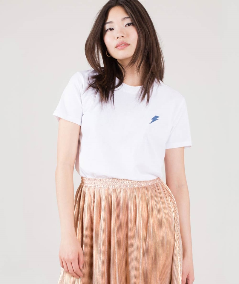 POP COPENHAGEN Lightning T-Shirt white