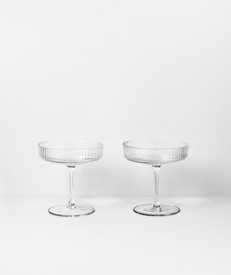 FERM Champagnerschalen-Set ripple