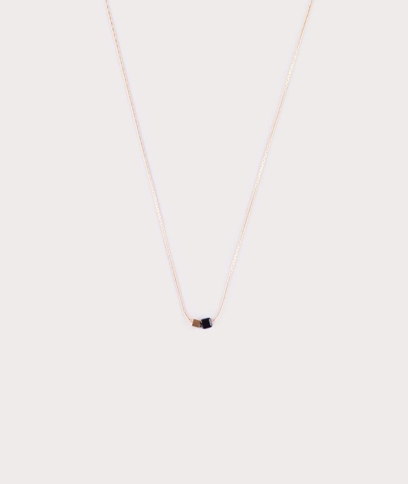 TOMSHOT Cube Kette gold schwarz