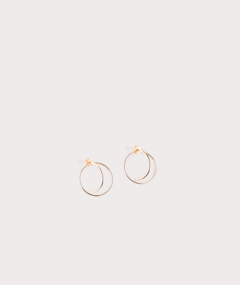 JUKSEREI Orbit Ear Stud Ohrring gold