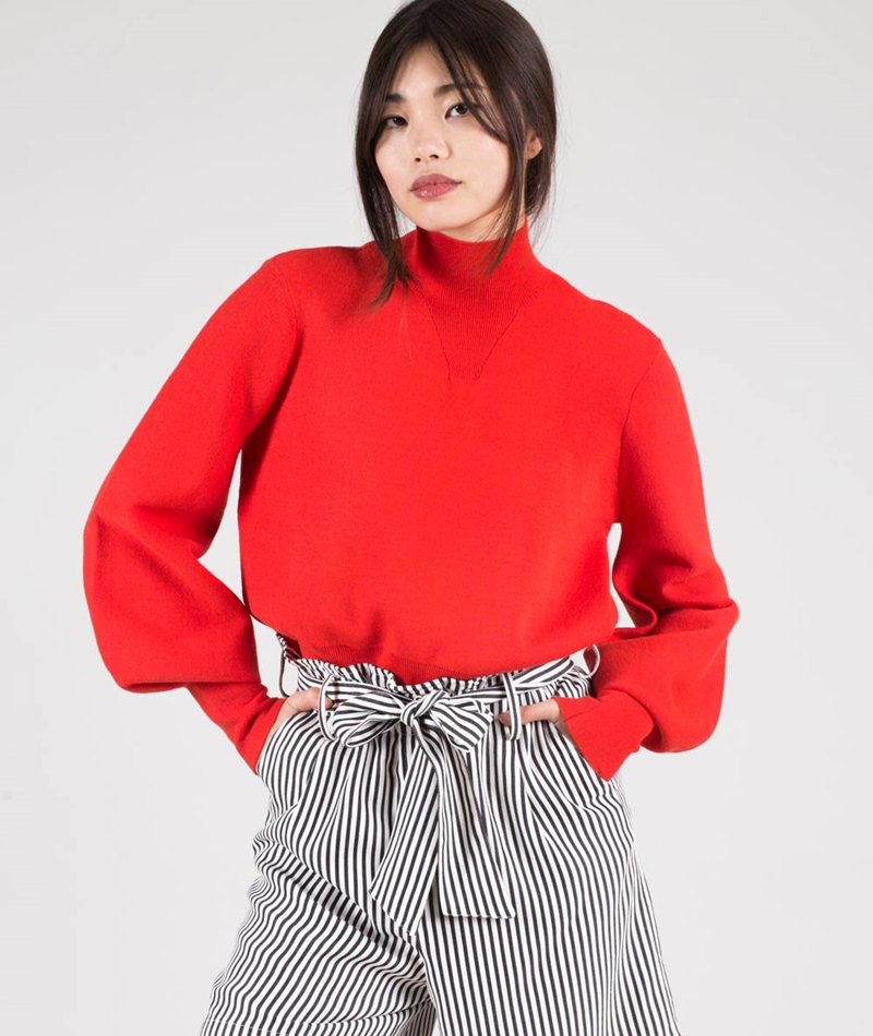 JUST FEMALE Alma Pullover Aurora red