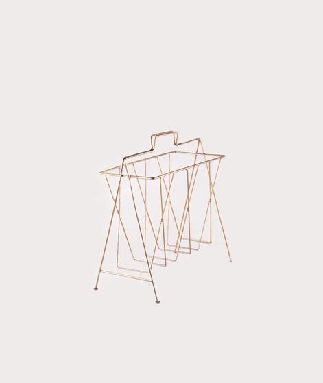 MADAM STOLTZ Magazine Rack ant. brass