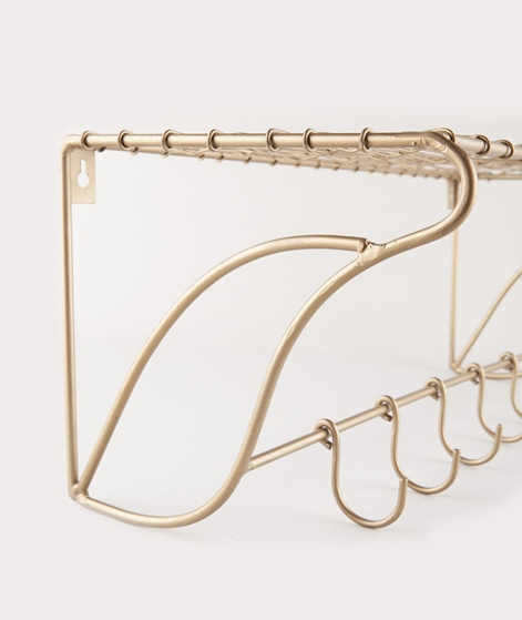 MADAM STOLTZ Shelf w/hooks