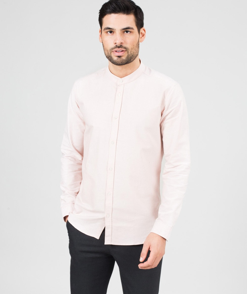 SUIT Oxford-Mandarin Hemd pale pink