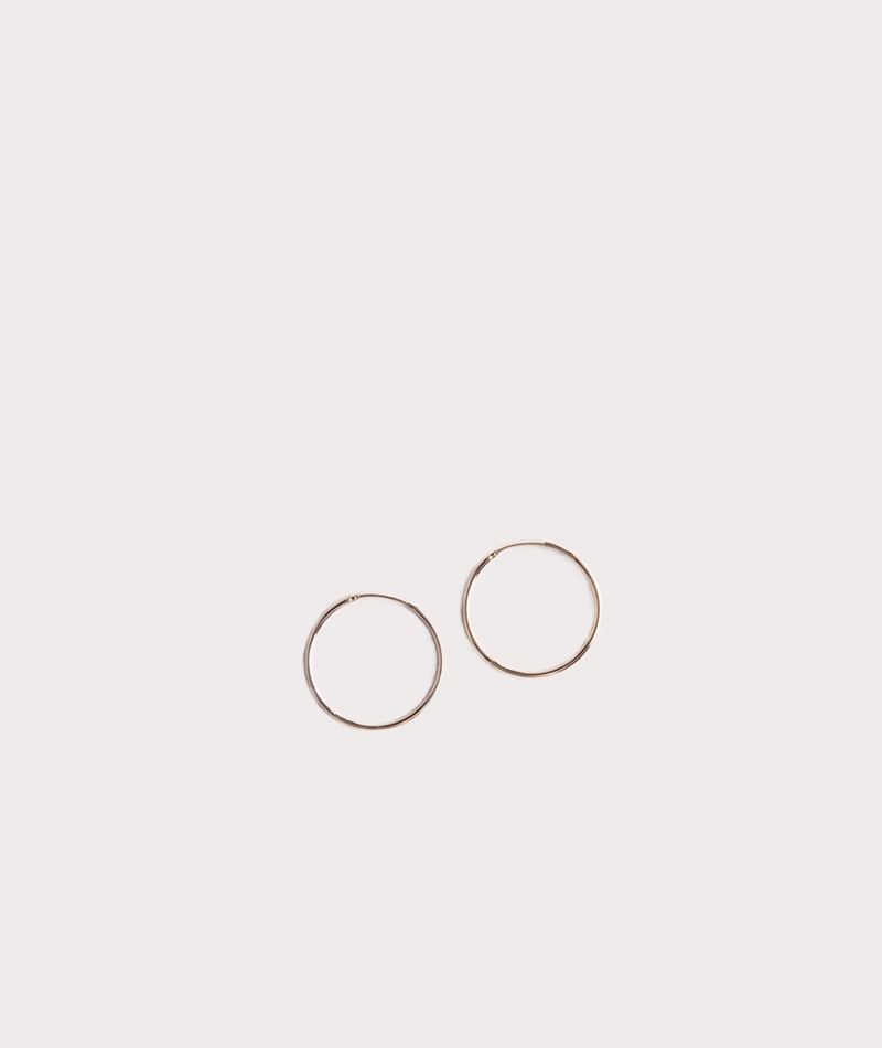 TOO DREAMY Blank Hoop gold