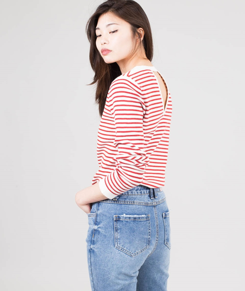 SUNCOO Pull Paola Pullover rouge