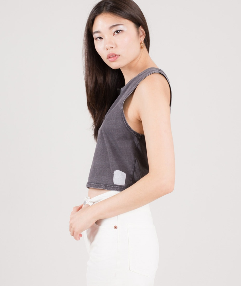 CHEAP MONDAY Shield tank Top off black