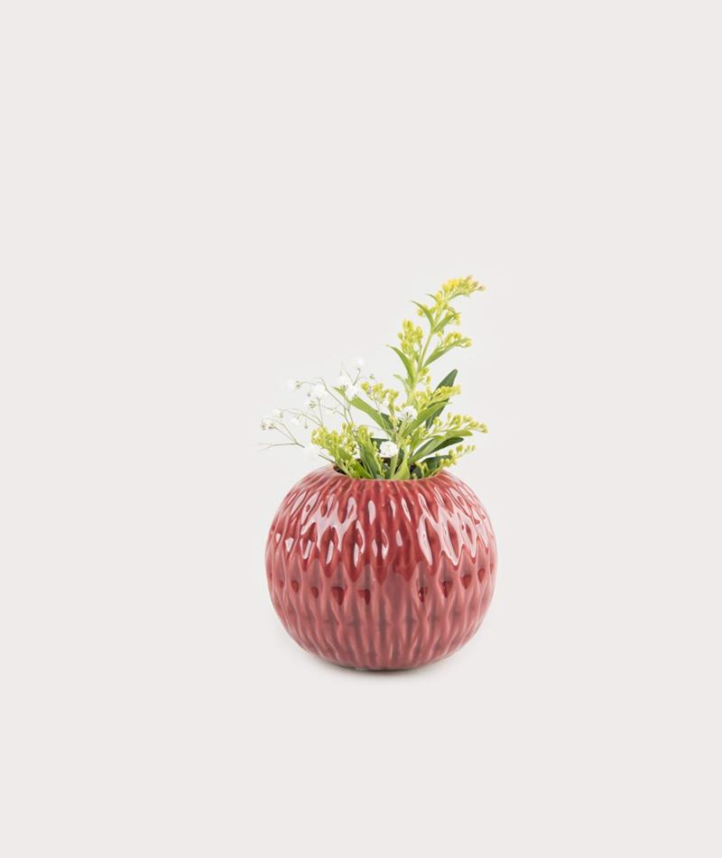 BLOOMINGVILLE Vase red