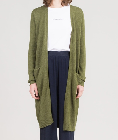 VILA Viril L/S Long Knit Cardigan chive