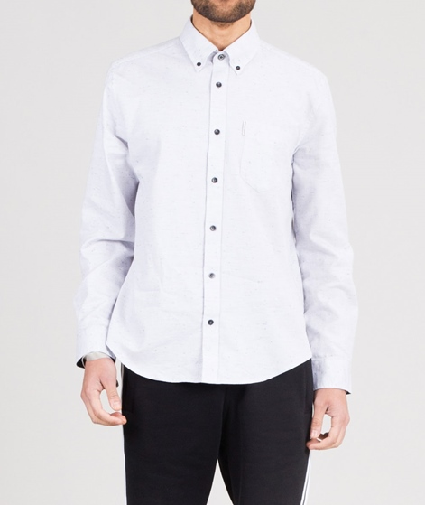BEN SHERMAN Textured Nep Hemd white