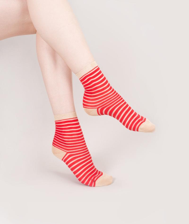 TOO HOT TO HIDE Fancy Linda Socken red