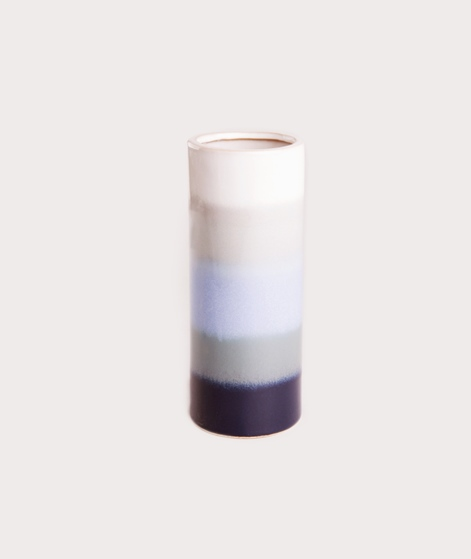 BROSTE Vase Big Stripes blau